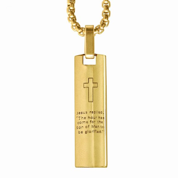 Gold Glory to God Pendant Necklace Front
