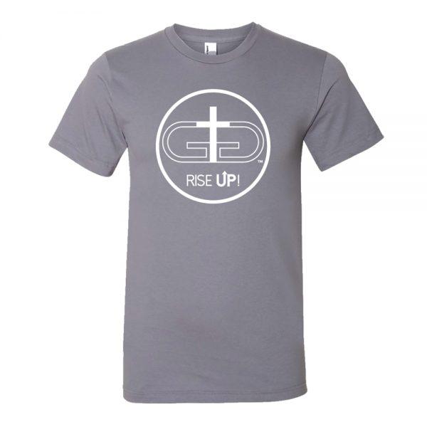 Gray Rise Up White Logo Tshirt Product Image