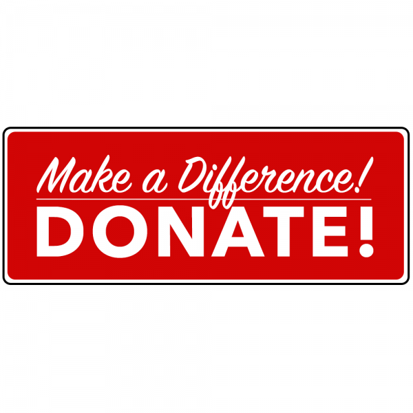 "Donate Product Image ""Make a Difference - Donate!"""