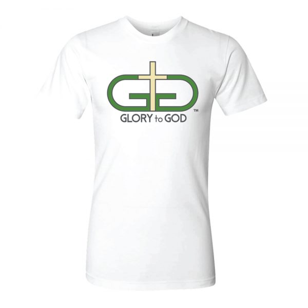 White Rise Up Green Logo Tshirt Product Image